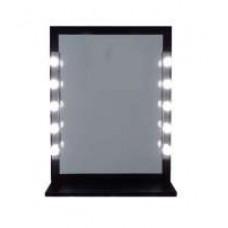 Pretty woman illuminated mirror - black