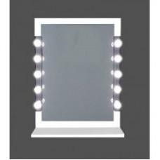 Pretty woman illuminated mirror - white