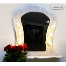 Retro illuminated mirror