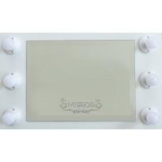 White illuminated mirror