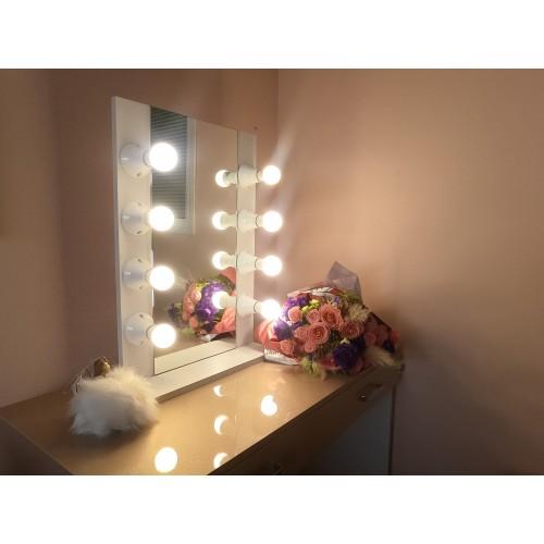 Elegance illuminated mirror - white