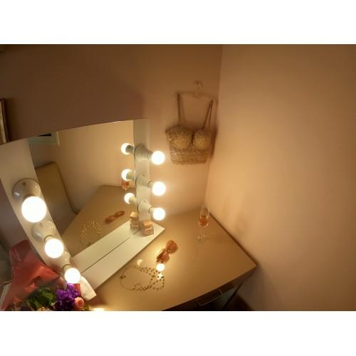 Romance illuminated mirror - white