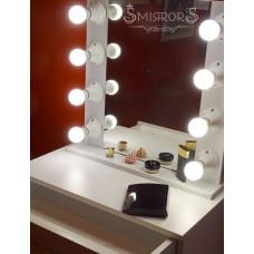 Beauty illuminated mirror - white